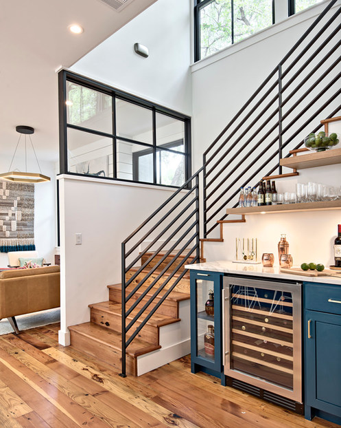 The Historic Home Renovation Stairway in West 11th in Austin, Texas