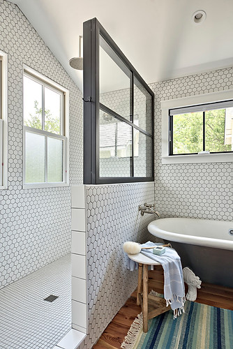 Historic Home Renovation Master Bathroom in West 11th in Austin, Texas