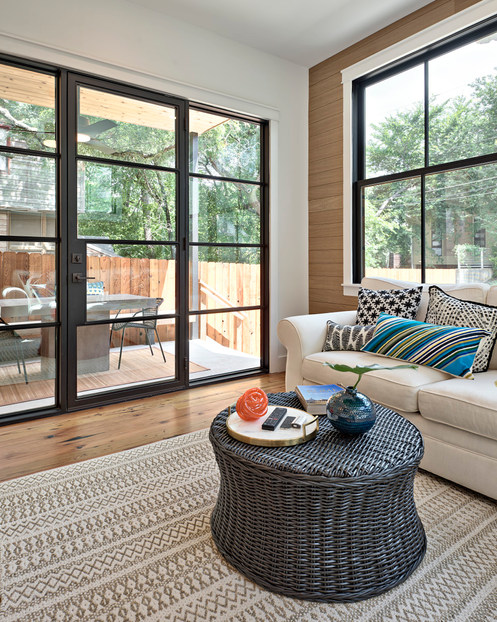 Historic Home Renovation Sliding Glass Doors in West 11th in Austin, Texas