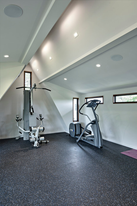 Historic Home Renovation Fitness Area on Jarrett in Austin, TX