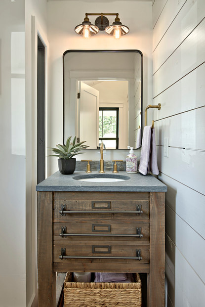 Historic Home Renovation Guest Bathroom Sink in West 11th in Austin, Texas