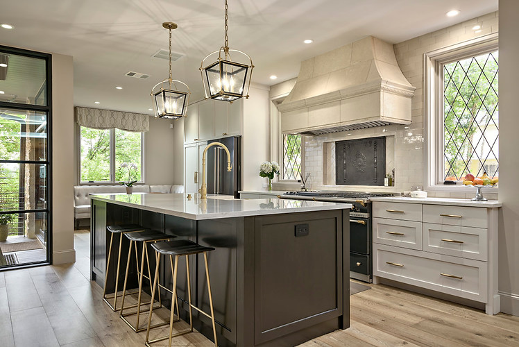 Historic Home Renovation Kitchen Island in the Jarrett House in Austin, TX