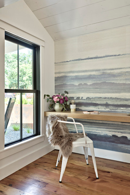 Historic Home Renovation Accent Wall  in West 11th in Austin, Texas
