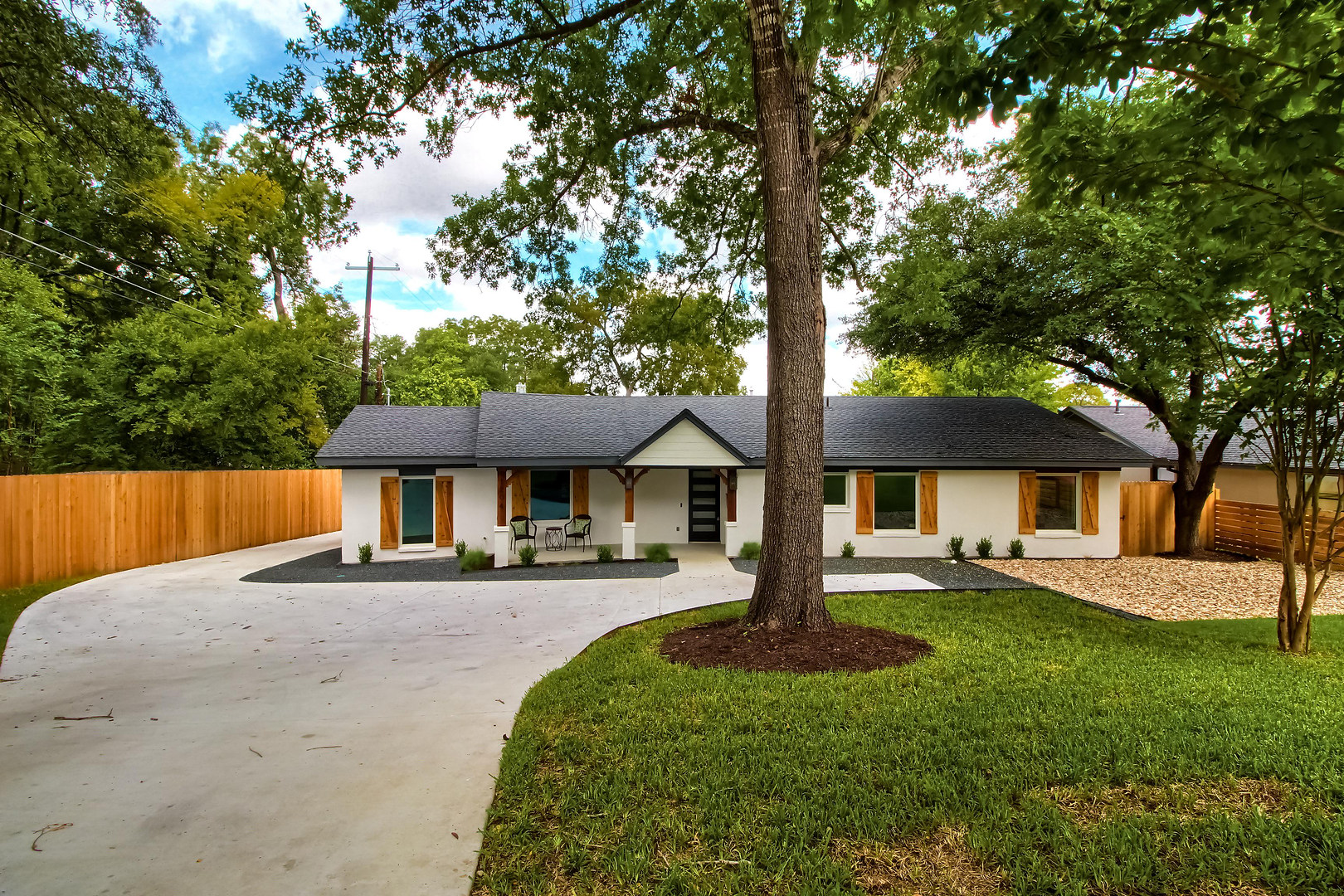 Front of the Home Renovation on West 29th in Austin, Texas