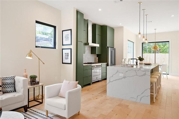 Open Floor Plan in the New Build on Grover Street in Austin, TX