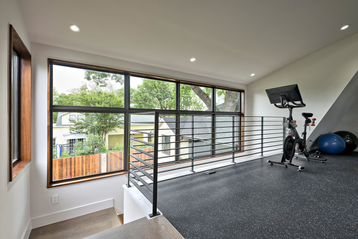 Historic Home Renovation Full Fitness Room on Jarrett in Austin, TX