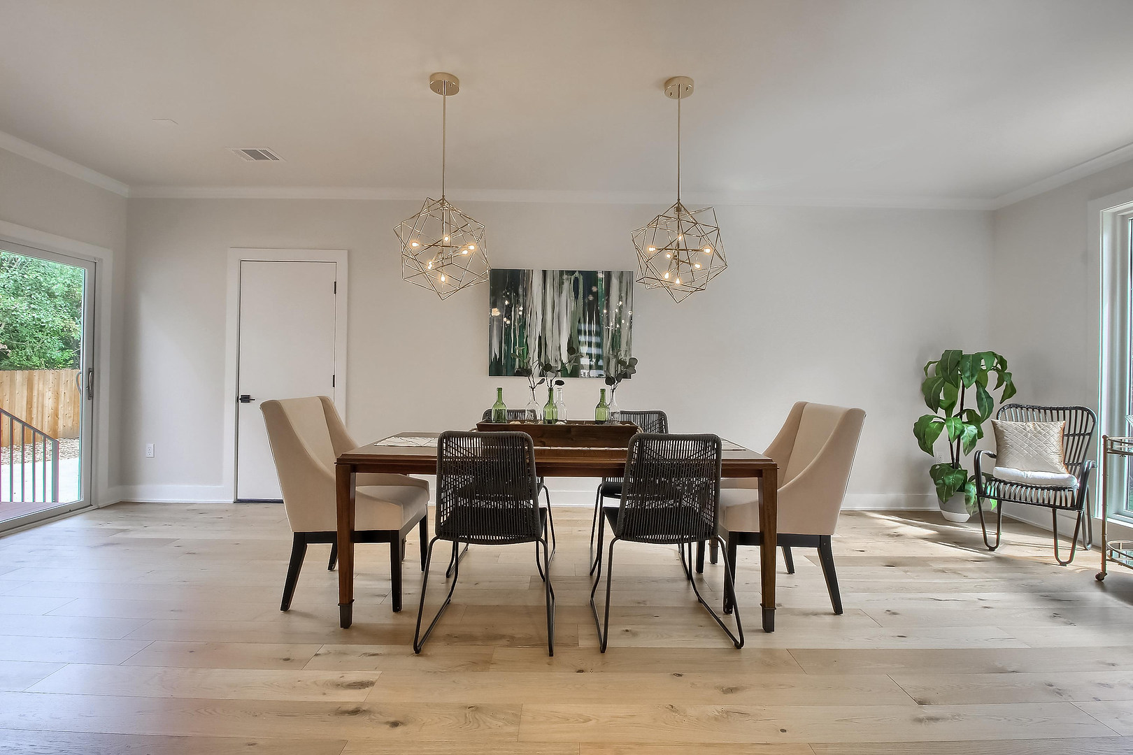 Home Renovation Formal Dining Room Light Fixtures on West 29th in Austin, Texas