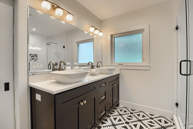 Home Renovation Master Bathroom Double Vanity on West 29th in Austin, Texas