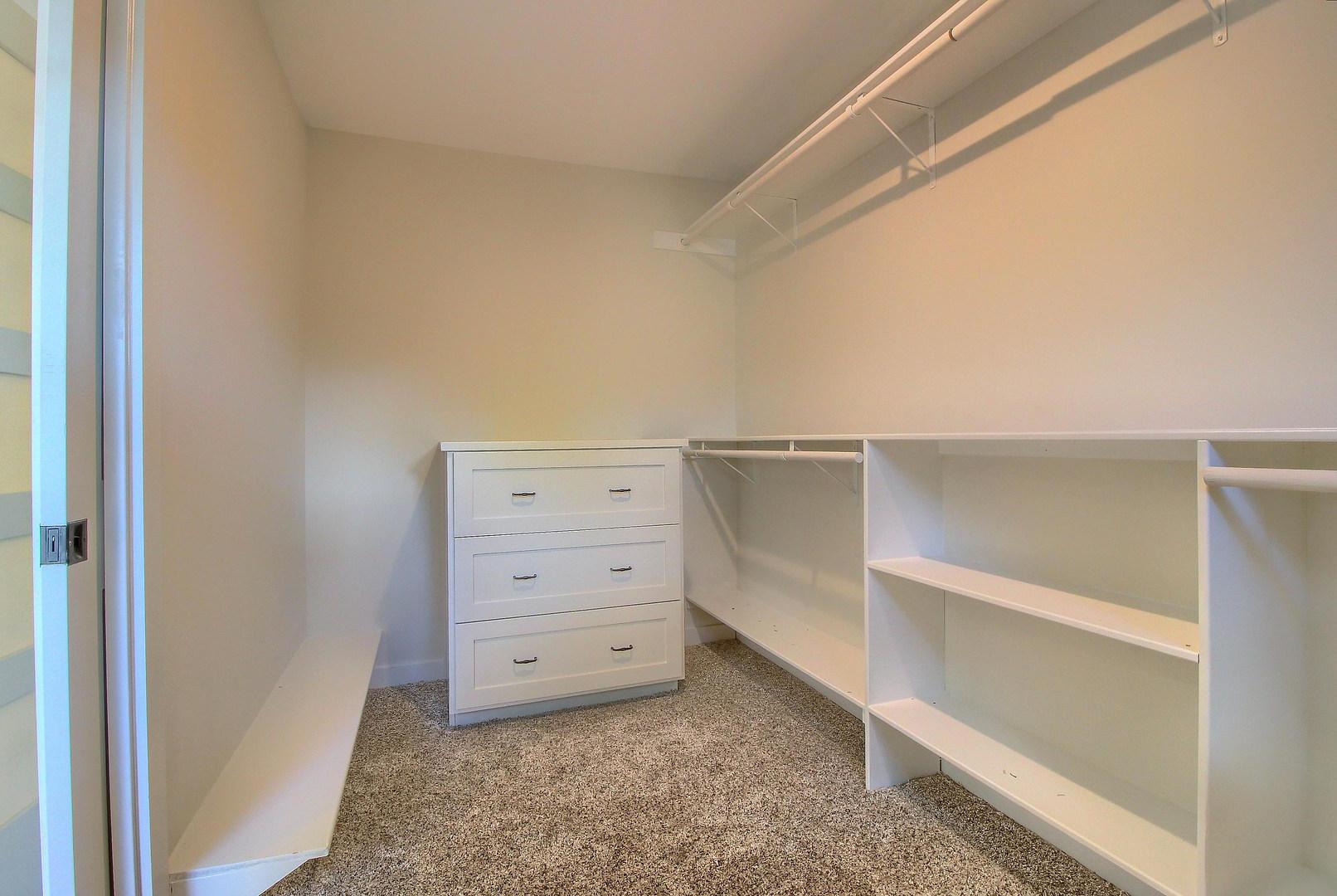 Home Renovation Master Closet Shelving on Bouldin in Austin, TX