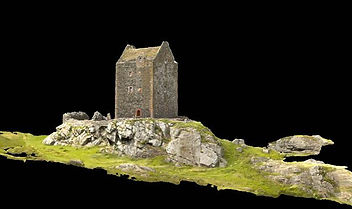 Smailholm Tower, Scotiish Tower Houses, Scottish Castles, Alan Hunter Blair, In Plane View