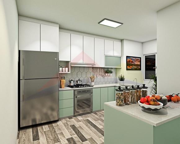 Kitchen 3D rendering