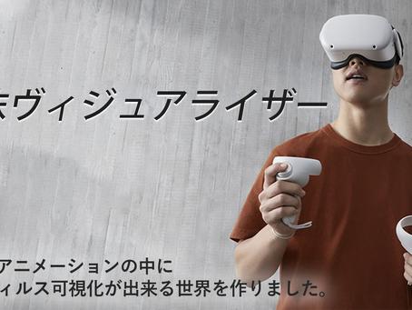 ウイルス可視化VRアプリを制作しました。
