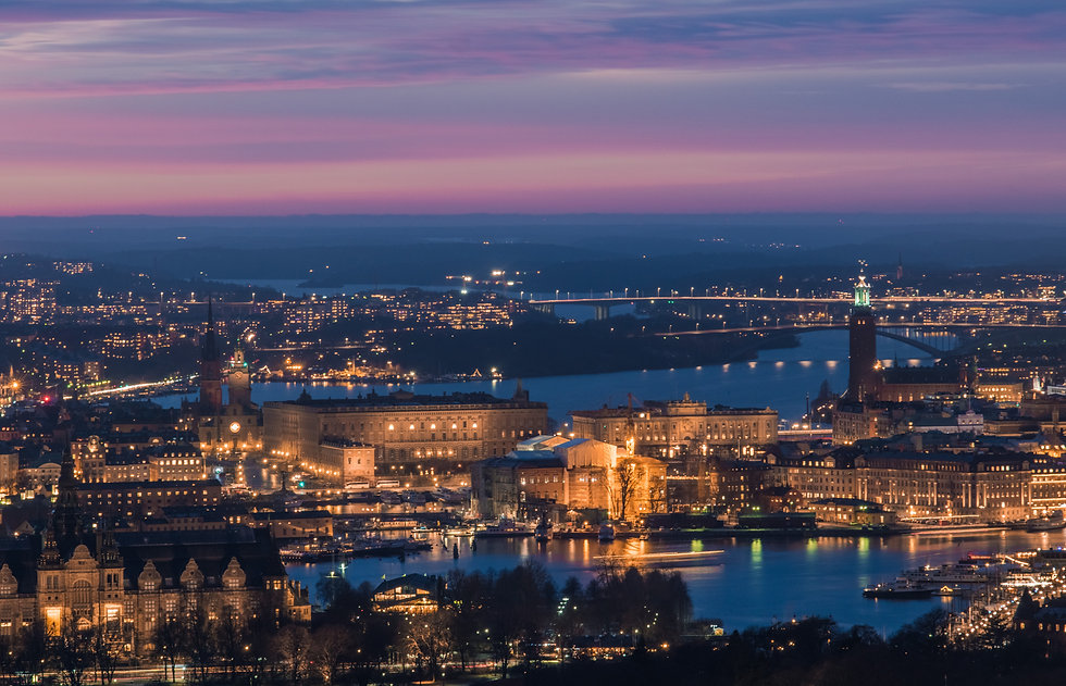 Stunning aerial view of Stockholm city c