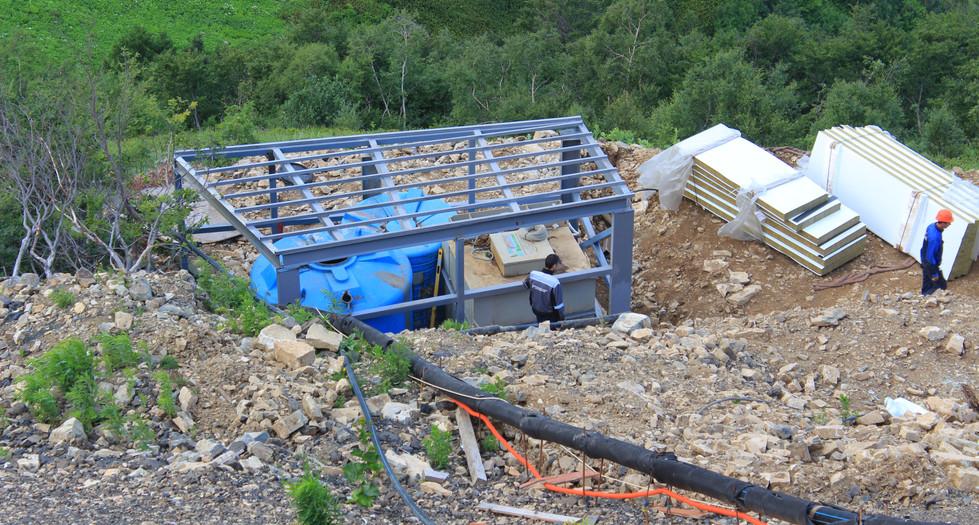 Реконструкция очистных сооружений на отм +2200 м.