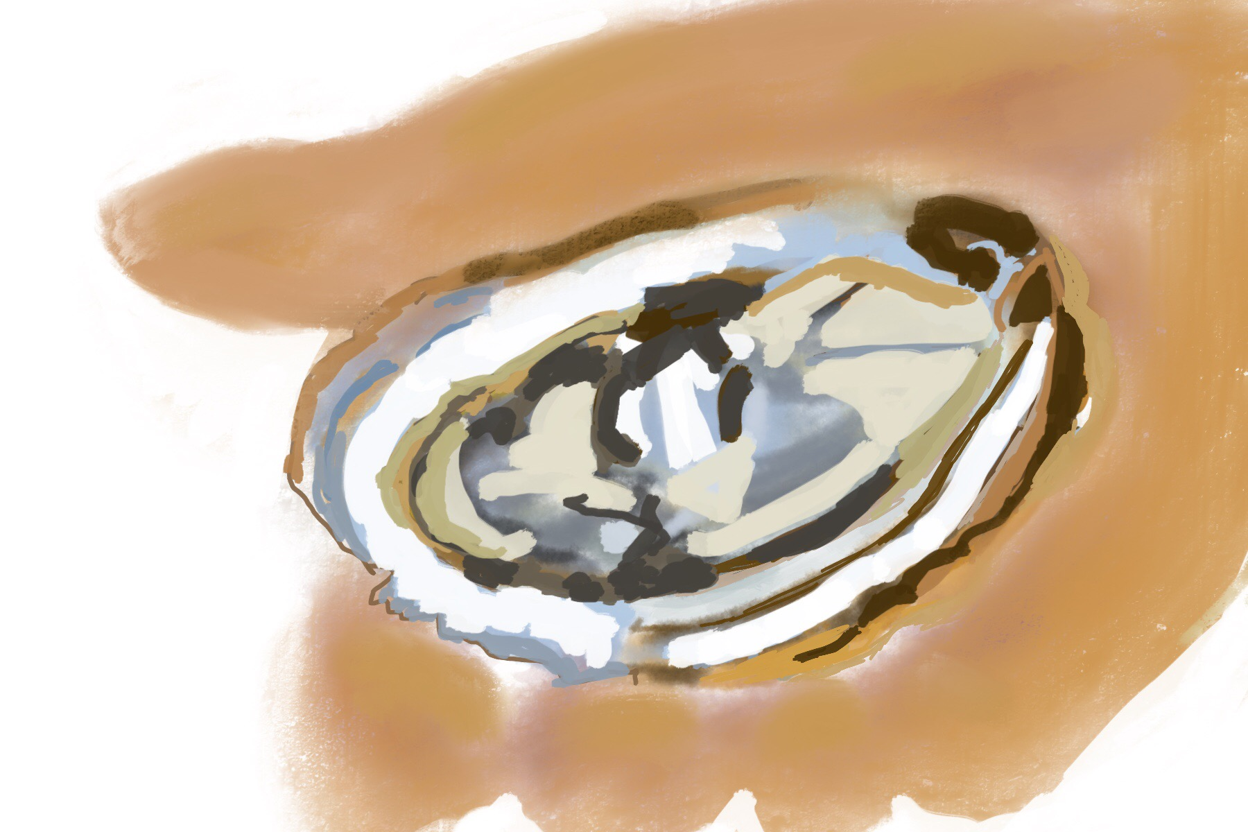 Oyster in hand