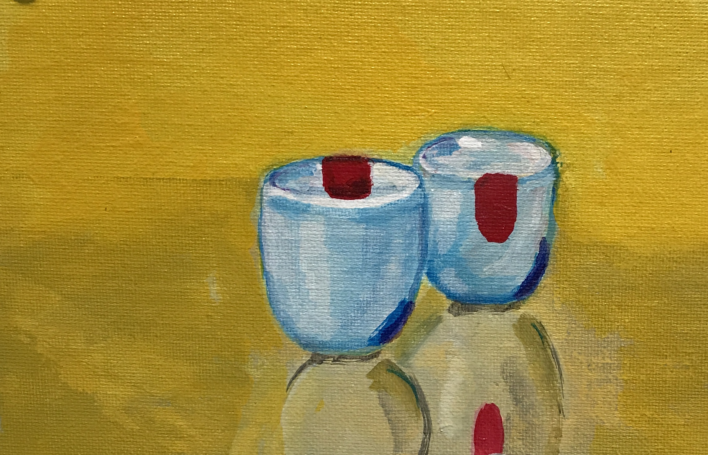 Chinese cups, acrylic