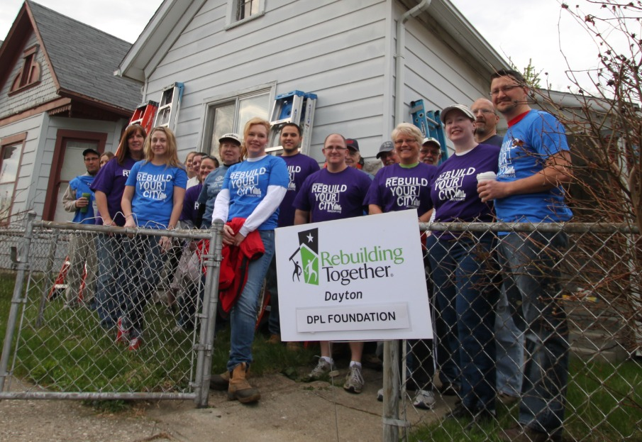 DP&L volunteers Rebuilding Together