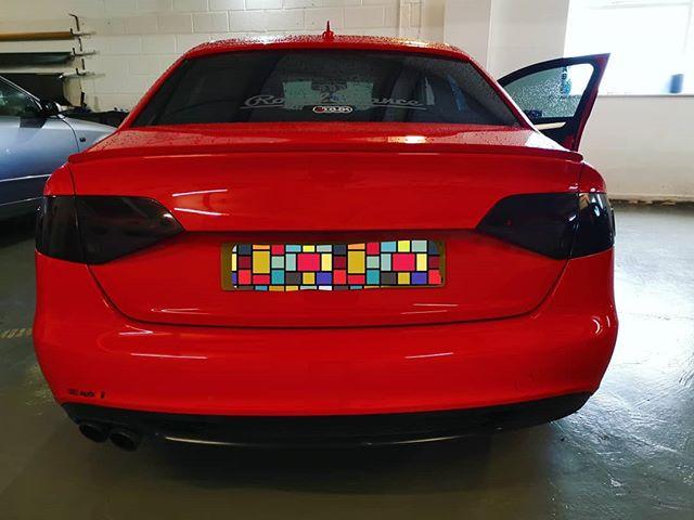 Beautiful Audi in for rear light tints.j