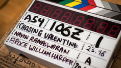 "On the set of ""Chasing Valentine"""