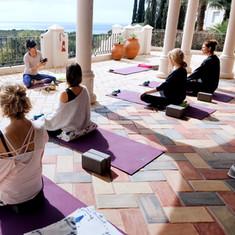 Terrace yoga