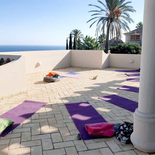 Yoga space rooftop