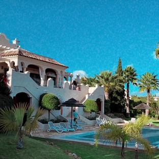 Villa from ocean side