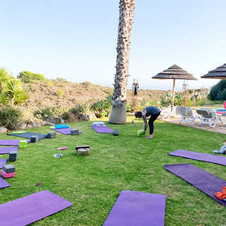 Restorative yoga space