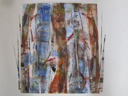 Two Birches 22X30