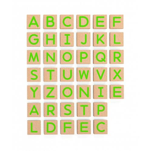 Medines magnetines didelės raides, 40vnt