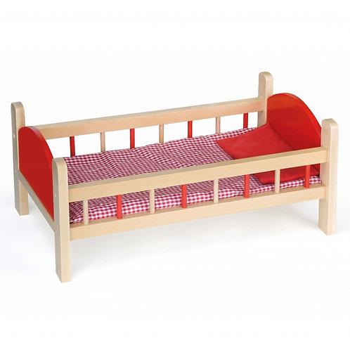 Medinė lovytė lėlėms
