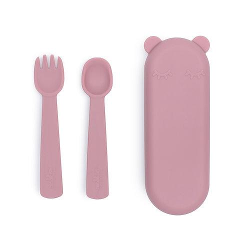 WE MIGHT BE TINY Silikoninis įrankių rinkinys dėžutėje, Dusty Pink