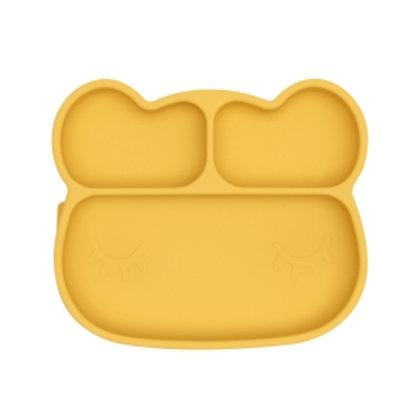 """WE MIGHT BE TINY Silikoninė lėkštutė """"Bear"""", Yellow"""