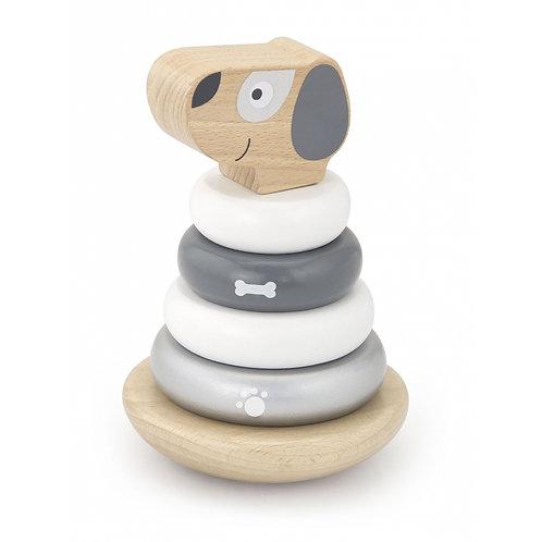 Linguojantis medinis žaislas – piramidė