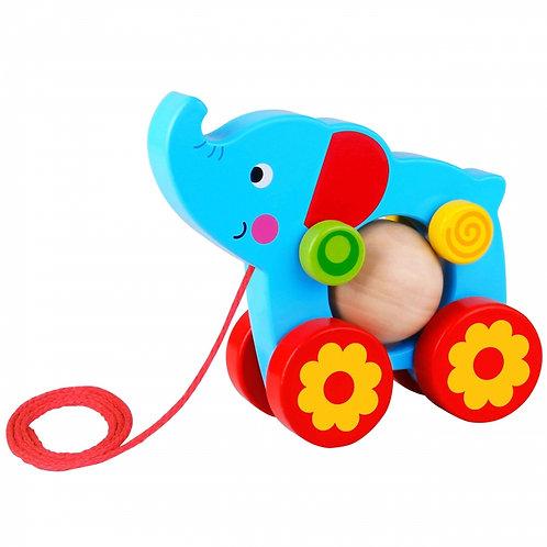 Medinis traukiamas drambliukas