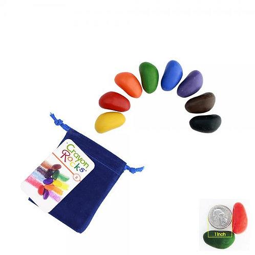 """Kreidelės """"Crayon Rocks"""" aksominiame maišelyje, 8 spalvos"""