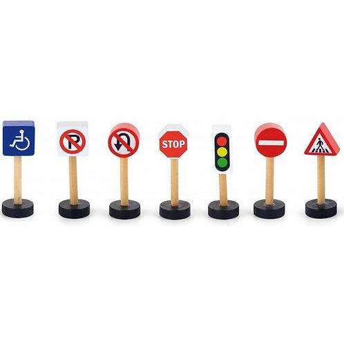 Medinis kelio ženklų rinkinys
