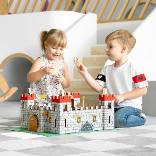 Medinė pilis su figūrėlėmis Viga
