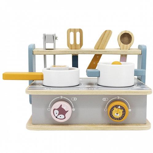 Medinė sulankstoma virtuvėlė su priedais PolarB