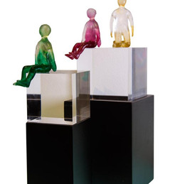 Material: Glass, Acrylic and Wooden Base  Dimensions (Tall): 13 cm x 13 cm x 37 cm Dimensions (Short): 10 cm x 10 cm x 32 cm