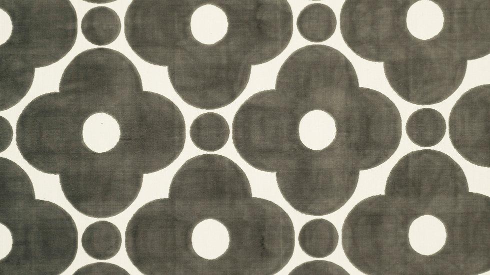 Velvet Spot Flower  - Dark Warm Grey