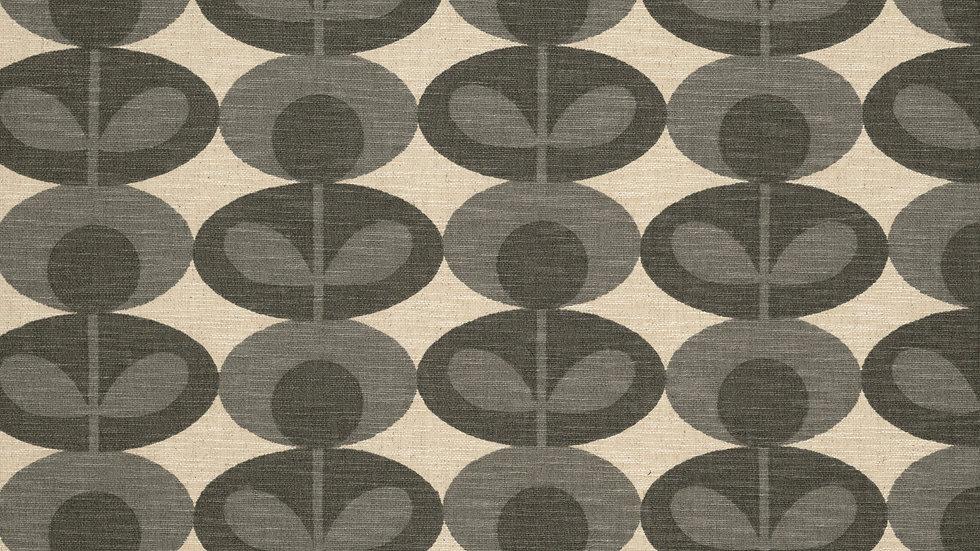 Slub Cotton Oval Flower  - Warm Mid Warm Grey
