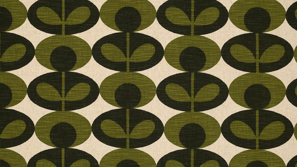 Slub Cotton Oval Flower  - Khaki