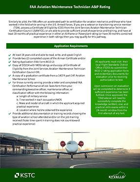 FAA Aviation Maintenance Technician A&P