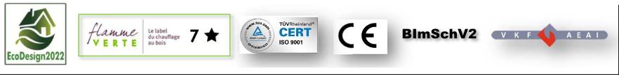 Poêle Innsbruck Certifications