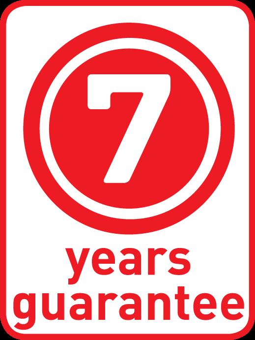 7 ans garantie*