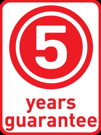 5 ans garantie*