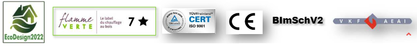 Poêle Panoramic Certifications