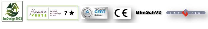 Poêle Kyoto Certifications