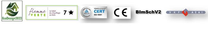 Poêle_Vega_Certifications
