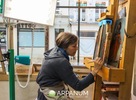 Marianne Chopin, restauratrice de tableaux